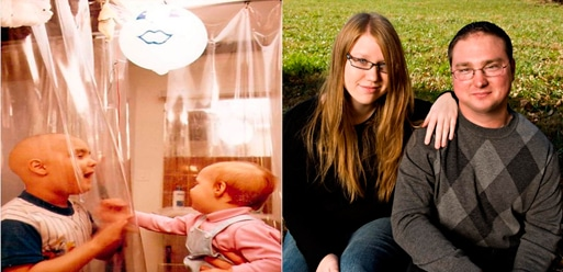 Mat Farrow fué el primer niño tratado con sangre de cordón umbilical